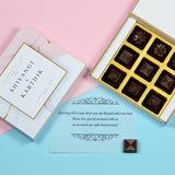 Anniversary Invitations - 9 Chocolate Box - Assorted Chocolates (10 Boxes)