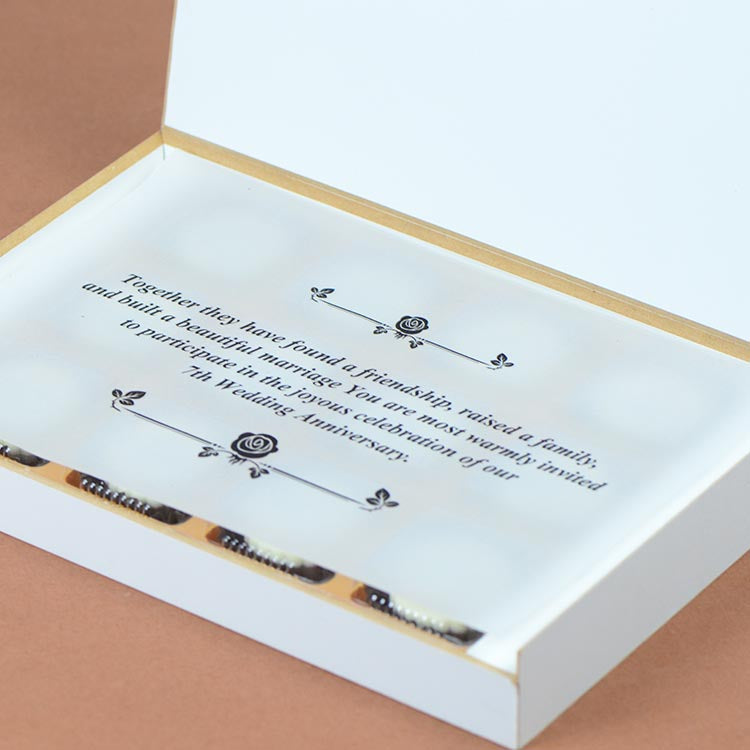 Anniversary Invitations - 12 Chocolate Box - All Printed Chocolates (Sample)
