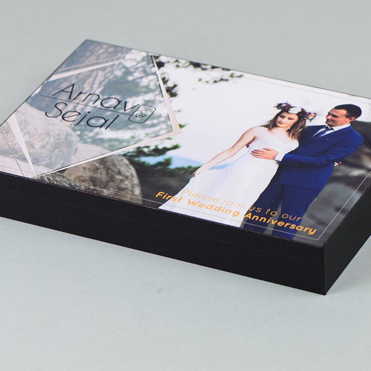 Anniversary Invitations - 12 Chocolate Box - Alternate Printed Chocolates (Sample)