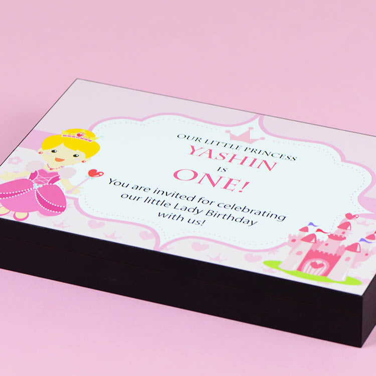 Birthday Invitations - 12 Chocolate Box - Alternate Printed Chocolates (Sample)