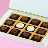 Birthday Invitations - 12 Chocolate Box - Middle Two Printed Chocolates (Sample)