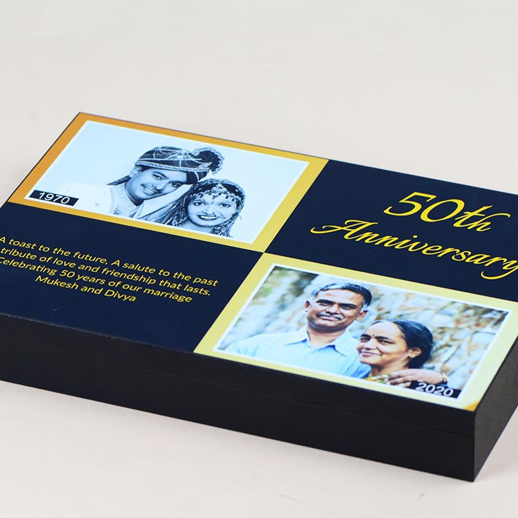 Anniversary Invitations - 12 Chocolate Box - Assorted Chocolates (Sample)