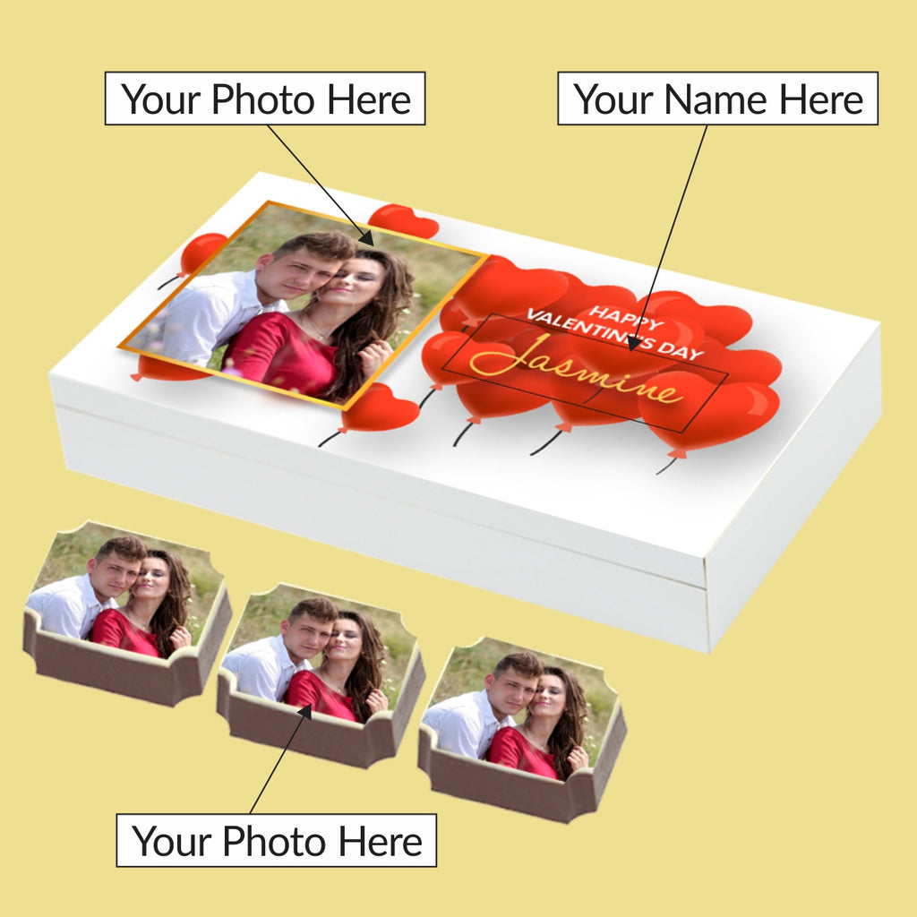 Personalised Chocolate Gift Box for Diwali with Diya Chocolates