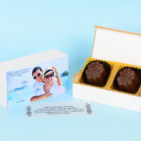 Anniversary Invitations - 2 Chocolate Box - Assorted Chocolates (Sample)