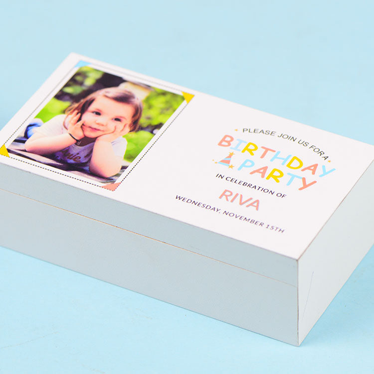 Birthday Invitations - 2 Chocolate Box - Assorted Chocolates (10 Boxes)