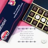 Birthday Invitations - 18 Chocolate Box - Middle Four Printed Chocolates (Sample)
