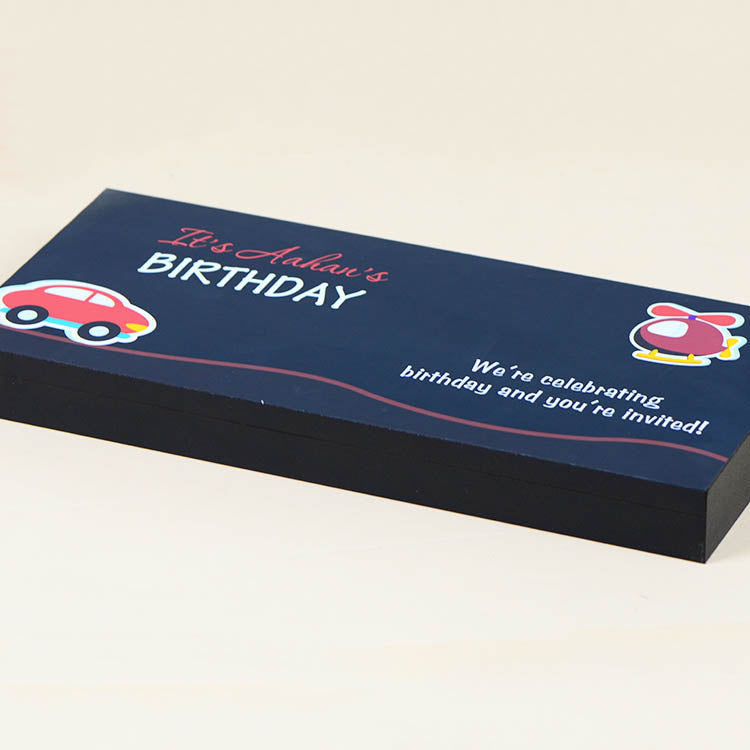 Birthday Invitations - 18 Chocolate Box - Middle Four Printed Chocolates (Minimum 10 Boxes)