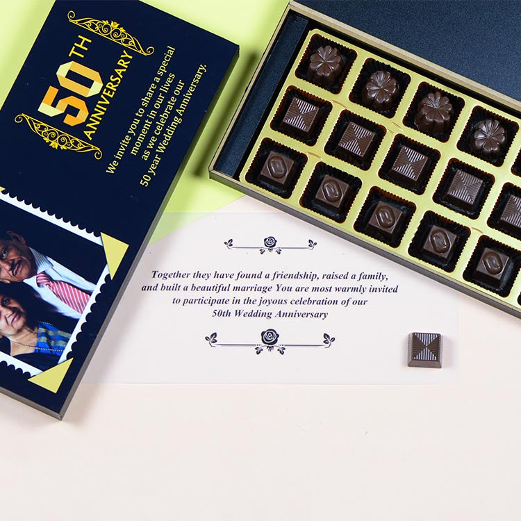 Anniversary Invitations - 18 Chocolate Box - Assorted Chocolates (Sample)