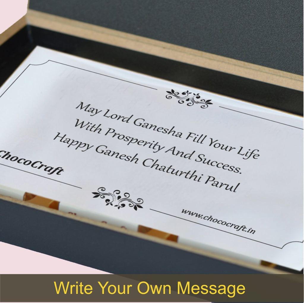 Modern Design Personalised Chocolate Gift Box with Diya Chocolates
