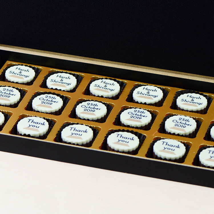 Anniversary Return Gifts - 18 Chocolate Box - All Printed Chocolates (10 Boxes)
