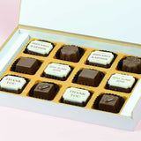 Anniversary Return Gifts - 12 Chocolate Box - Alternate Printed Chocolates (10 Boxes)