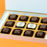 Anniversary Return Gifts - 12 Chocolate Box - Middle Two Printed Chocolates (10 Boxes)