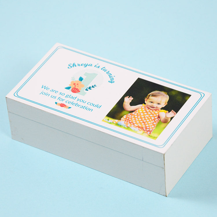 1st Birthday Return Gifts - 2 Chocolate Box - All Printed Chocolates (Sample)