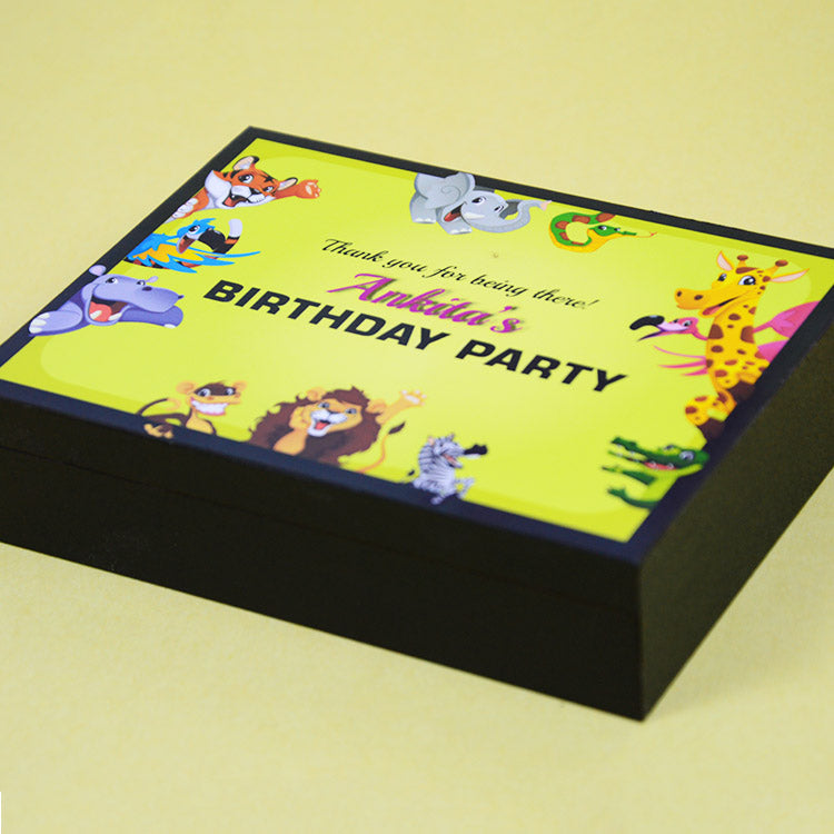 1st Birthday Return Gifts - 4 Chocolate Box - Alternate Printed Chocolate (Sample)