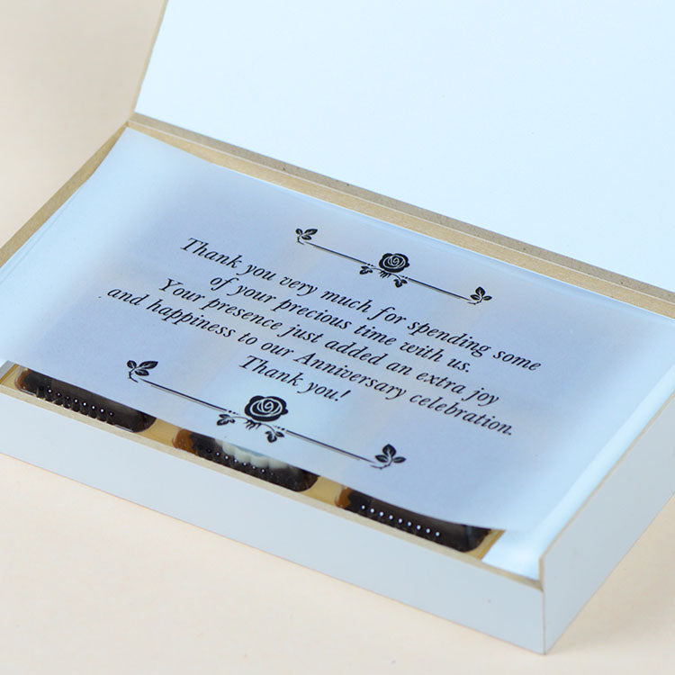 Anniversary Return Gifts - 6 Chocolate Box - Single Printed Chocolates (Minimum 10 Boxes)