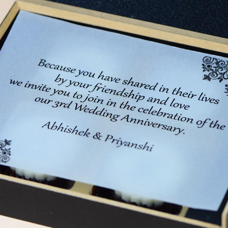 Anniversary Invitations - 4 Chocolate Box - All Printed Chocolates (Minimum 10 Boxes)