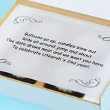 Birthday Invitation - 4 Chocolate Box - All Printed Chocolates (Sample)