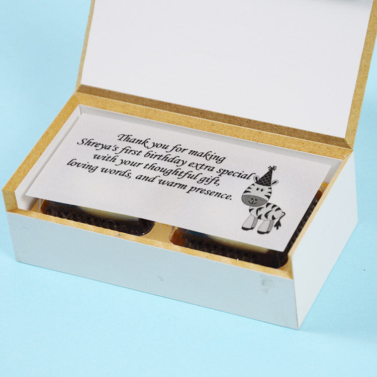1st Birthday Return Gifts - 2 Chocolate Box - All Printed Chocolates (10 Box)