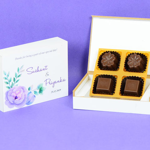 Anniversary Return Gifts - 4 Chocolate Box - Assorted Chocolates (10 Boxes)