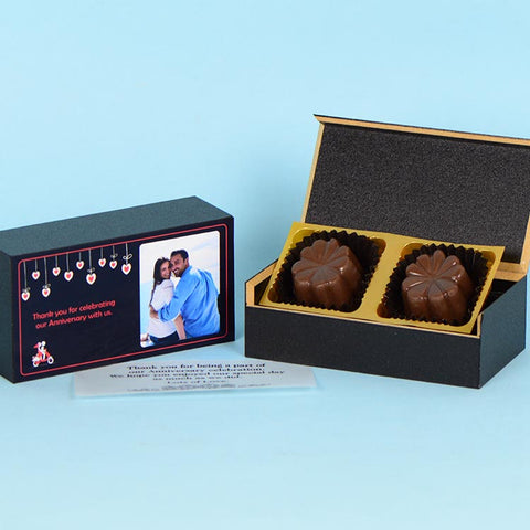 Anniversary Return Gifts - 2 Chocolate Box - Assorted Chocolates  (Minimum 10 Boxes)