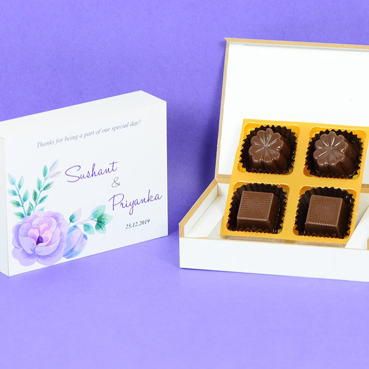 Anniversary Return Gifts - 4 Chocolate Box - Assorted Chocolates (Sample)