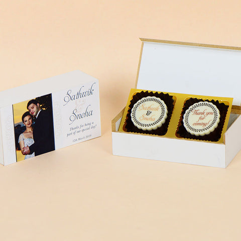 Anniversary Return Gifts - 2 Chocolate Box - All Printed Chocolates (Minimum 10 Boxes)