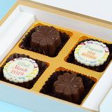 Birthday Invitations - 4 Chocolate Box - Alternate Printed Chocolates (Sample)