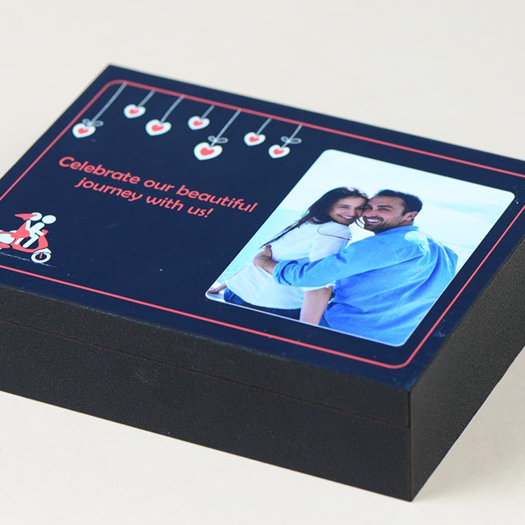 Anniversary Invitations - 4 Chocolate Box - Assorted Chocolates (Minimum 10 Boxes)