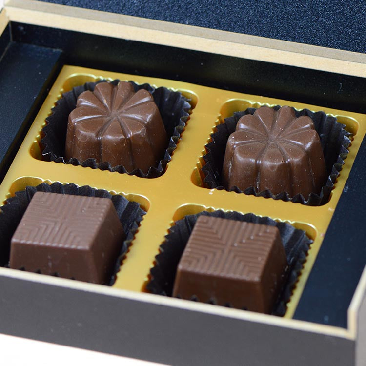 Anniversary Invitations - 4 Chocolate Box - Assorted Chocolates (10 Boxes)