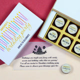Birthday Invitations - 6 Chocolate Box - All Printed Chocolates (Sample)