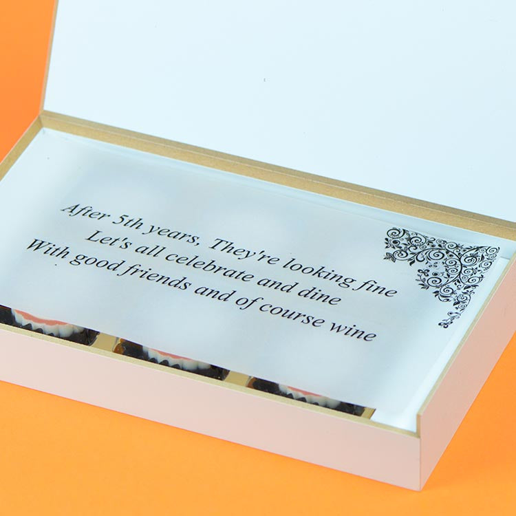 Anniversary Invitations - 6 Chocolate Box - All Printed Chocolates (10 Boxes)