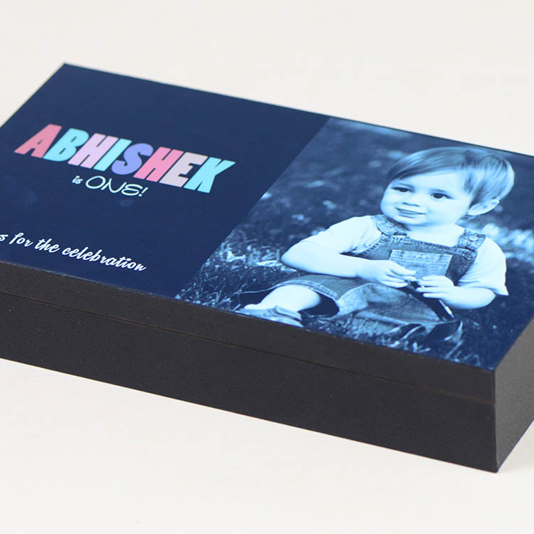 Birthday Invitations - 6 Chocolate Box - Alternate Printed Chocolates (10 Boxes)