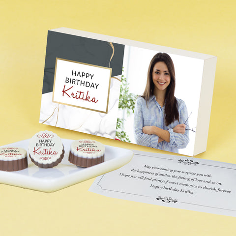 Beautiful Modern Design Personalised Chocolate Gift Box for Birthday