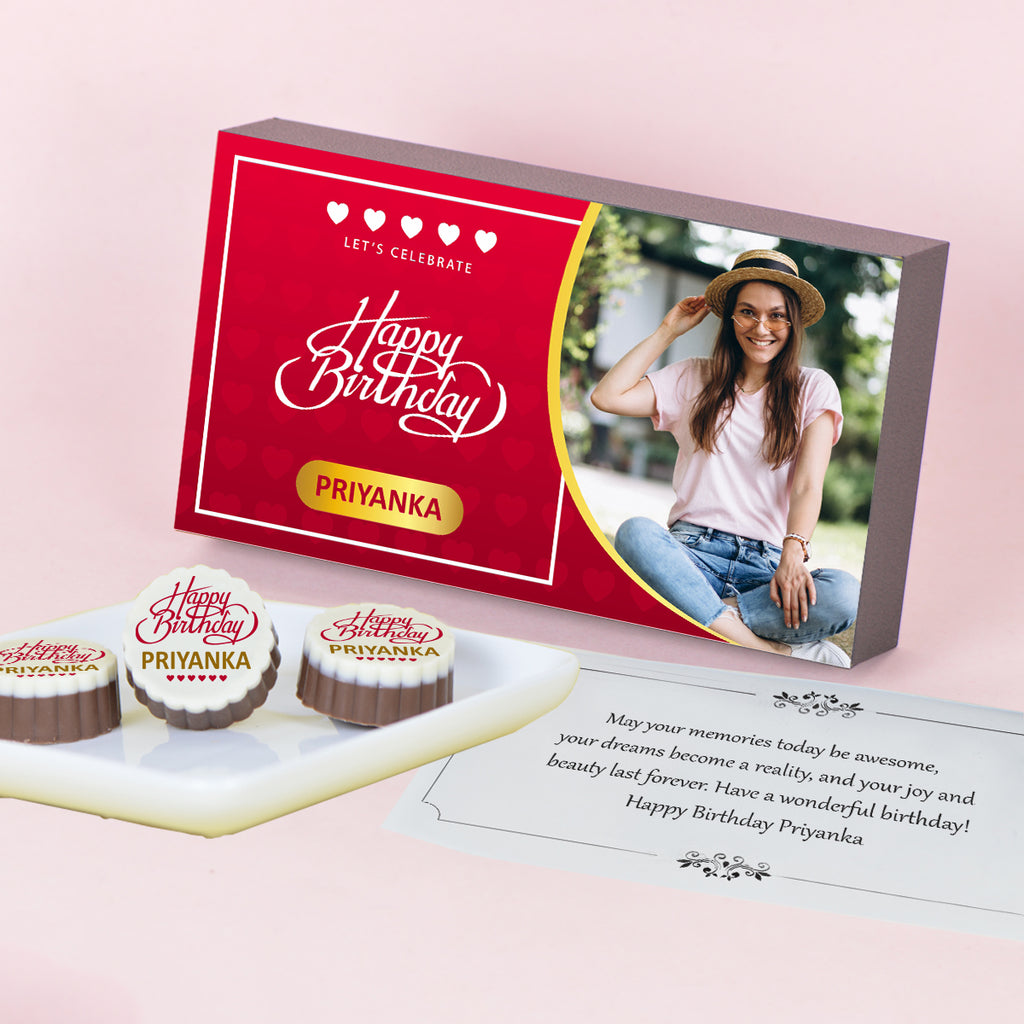 Birthday Gift Chocolate Box - Personalized with Photo