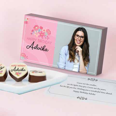 Personalised Chocolate Birthday Gift with Photo