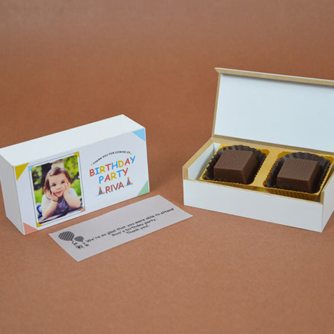 Birthday Return Gifts - 2 Chocolate Box - Assorted Chocolates (Minimum 10 Boxes)