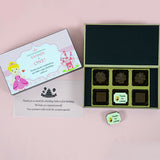 Birthday Return Gifts - 6 Chocolate Box - Single Printed Chocolate (Sample)