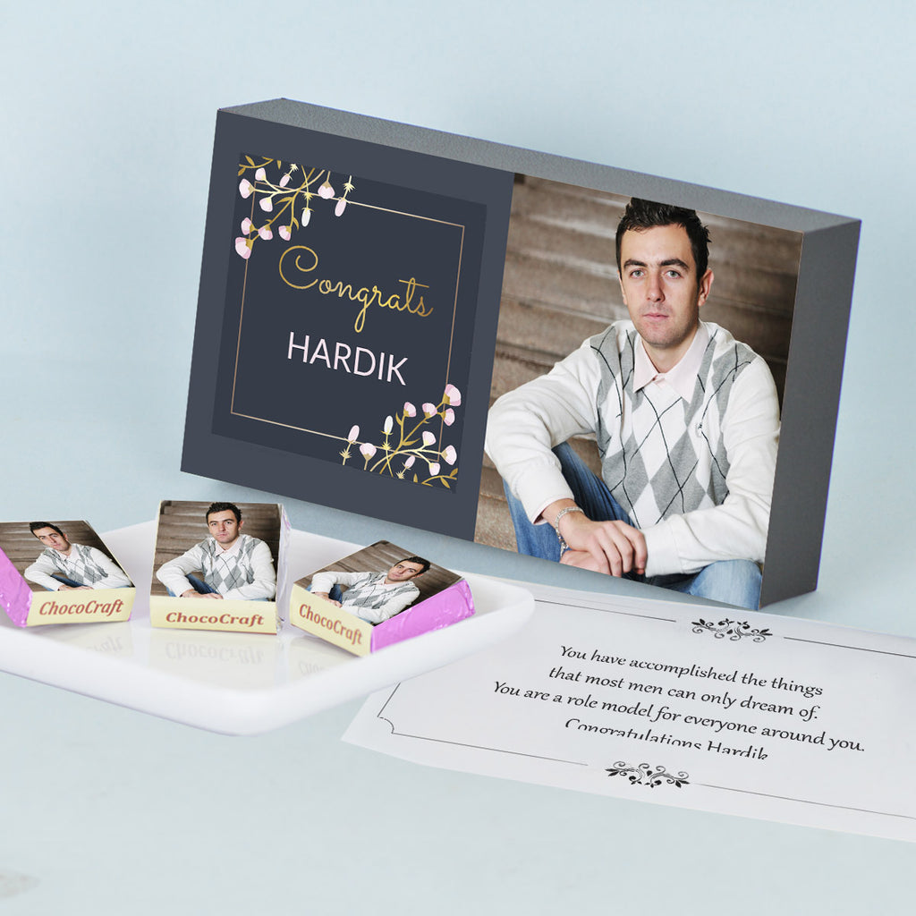 Cool Personalized Gift Box for Brother with Rakhi and Chocolates