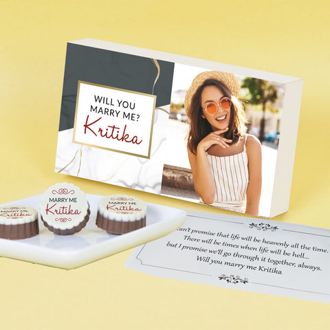 Unique Wedding Proposal Chocolate Gift Personalized with photo