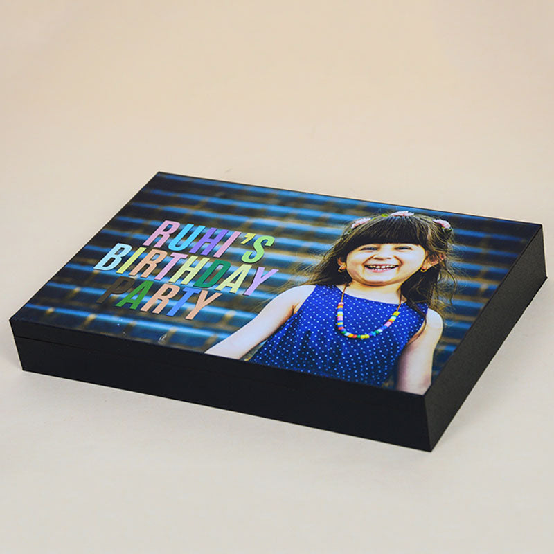 Birthday Return Gifts - 12 Chocolate Box - Middle Two Printed Chocolates (Minimum 10 Boxes)