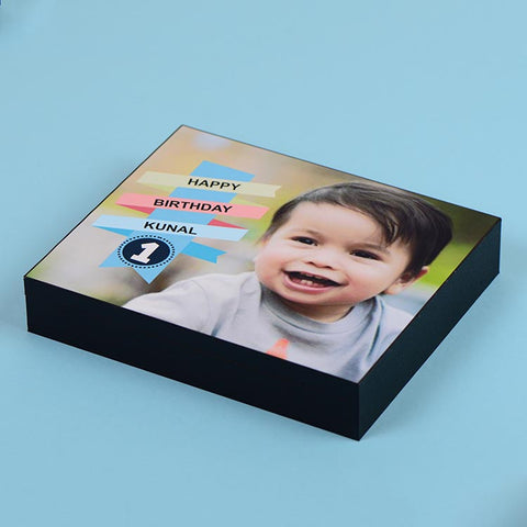 1st Birthday Invitations - 9 Chocolate Box - All Printed Chocolates (10 Boxes)
