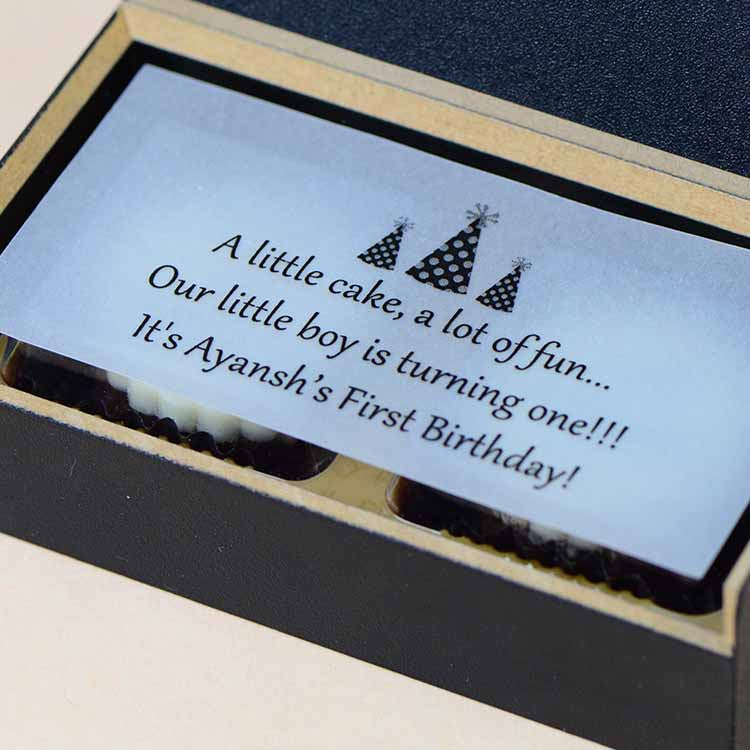 1st Birthday Invitations - 2 Chocolate Box - All Printed Chocolates (Sample)