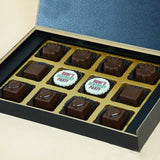 Birthday Return Gifts - 12 Chocolate Box - Middle Two Printed Chocolates (10 Boxes)