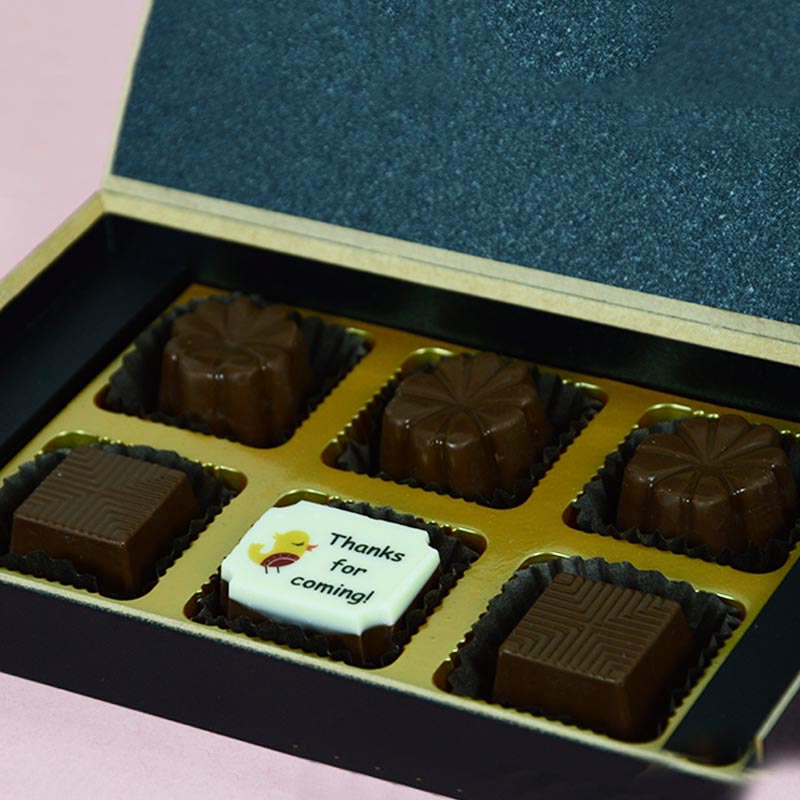 Birthday Return Gifts - 6 Chocolate Box - Single Printed Chocolates (10 Boxes)