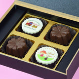 Birthday Return Gifts - 4 Chocolate Box - Alternate Printed Chocolate (Sample)