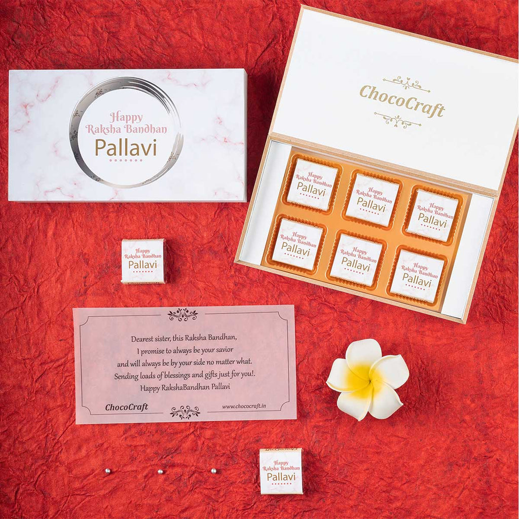 Anniversary Return Gifts - 12 Chocolate Box With Printed Bar -  (Sample)