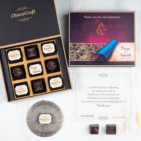 Red Hearts I Love You Chocolate Gift Box Personalized with Picture(with Wrapped Chocolates)
