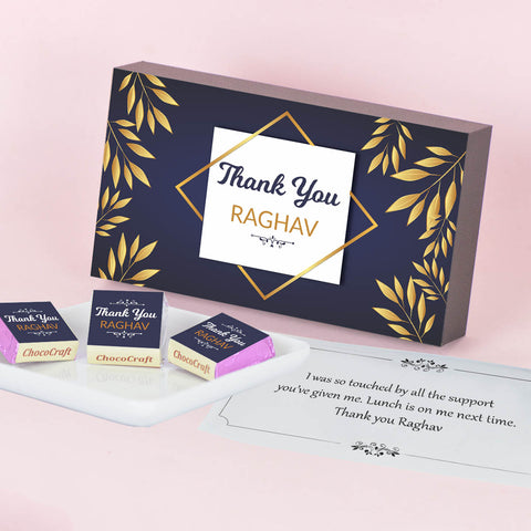 Chocolate Gift for Valentine's Day Personalized with Photo(with Wrapped Chocolates)