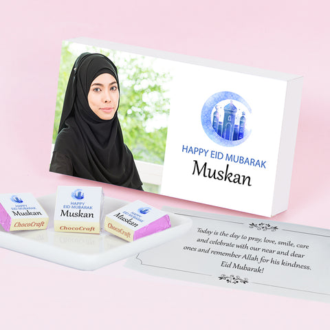 Innovative Personalised Gift for Eid with Wrapped Chocolates