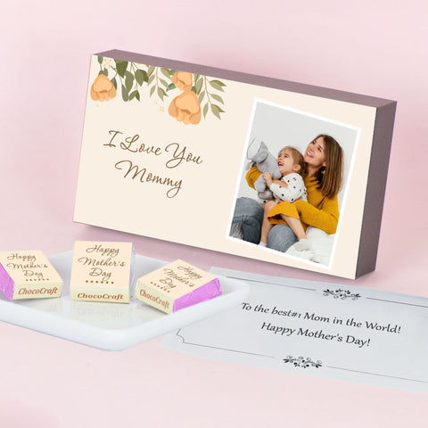 Floral Theme Personalised Mother's Day Gift (with Wrapped Chocolates)
